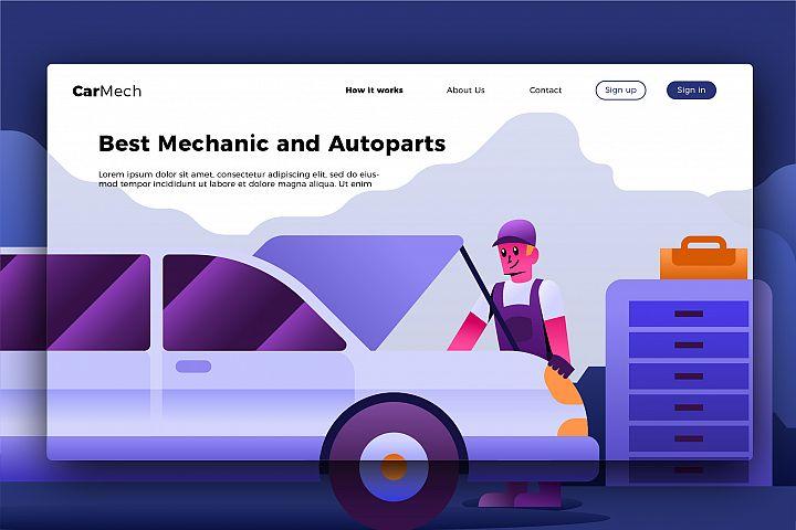 Mechanic 4 - Banner & Landing Page