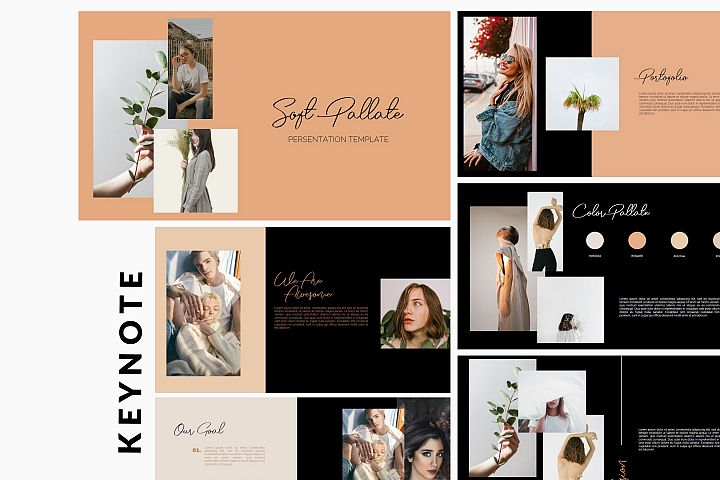 Soft Pallate Dark - Fashion Keynote Template