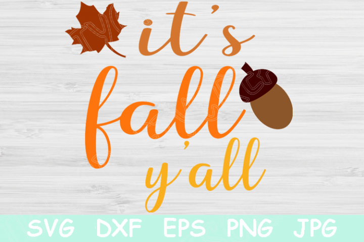 Its Fall Yall Svg, Fall Svg, Autumn Svg File with Leaf.