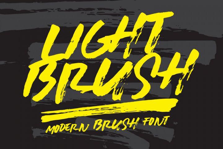 LIGHTBRUSH Modern Brush Font