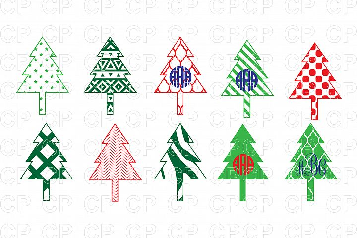 Christmas Tree Bundle SVG Cut Files,Christmas Tree Clipart