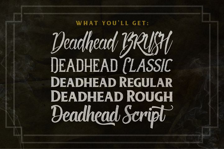 Deadhead Typeface Family - Free Font of The Week Design 1