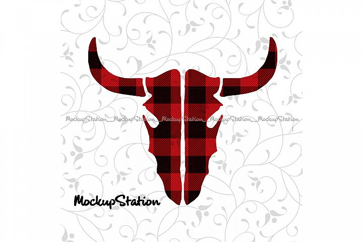 Christmas Longhorn Head Sublimation Design Transfer File PNG