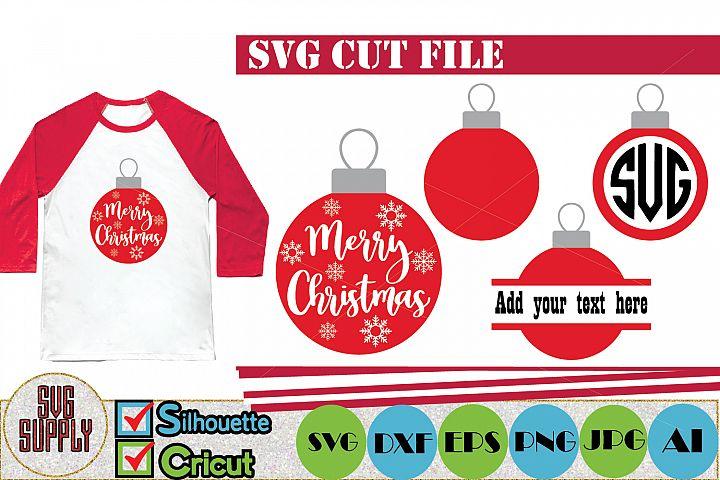 Christmas Balls SVG Cut File
