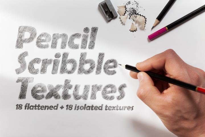 18 Pencil Scribble Textures