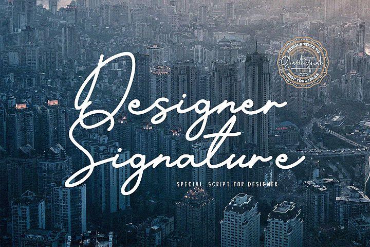 Designer Signature Font