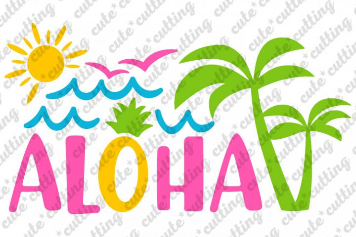 Aloha svg, Hawaii svg, Summer svg, dxf, png, pdf, jpeg
