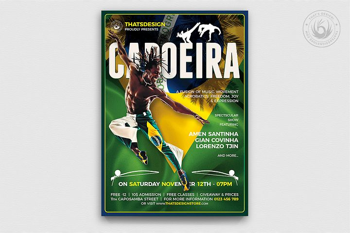 Capoeira Flyer Template