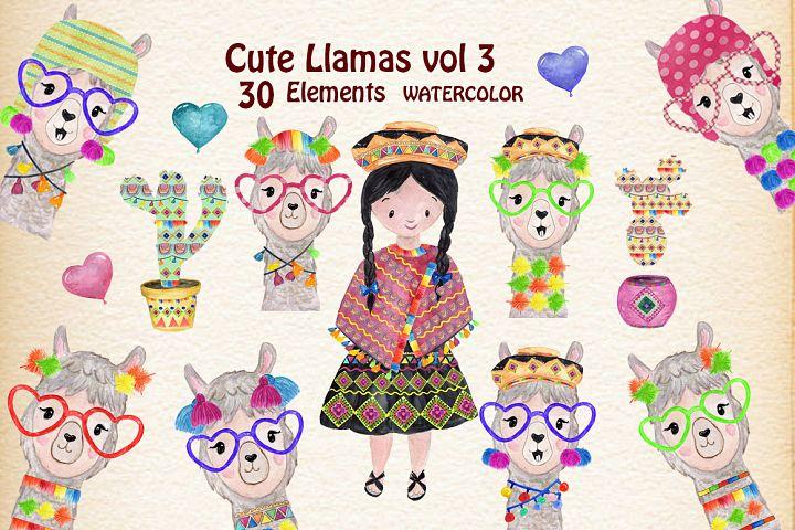 Funny Llama Clipart