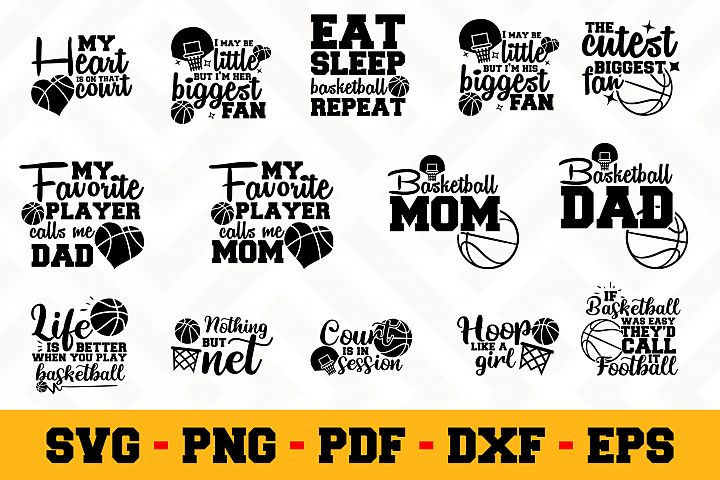 Basketball 14 Designs Pack | Basketball SVG Bundle