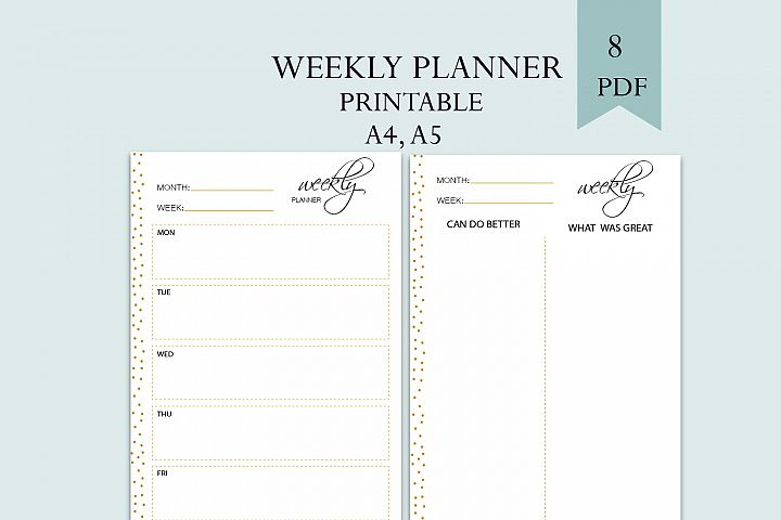 Weekly planner, womens planner, Family planner