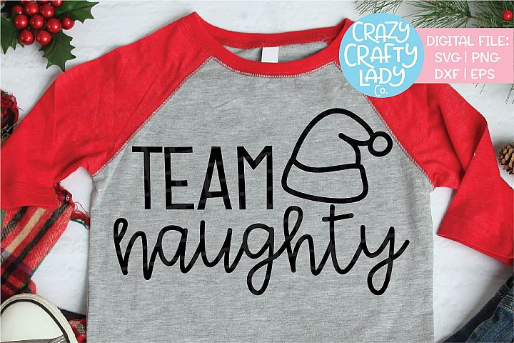 Team Naughty SVG DXF EPS PNG Cut File