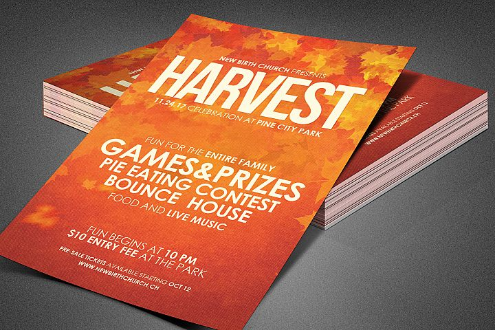 Harvest Celebration Church Flyer