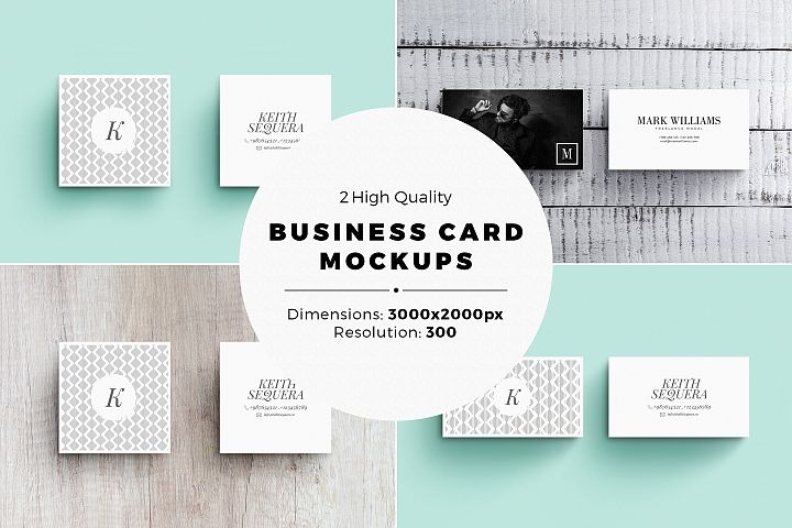 Business Card MockUps with Templates