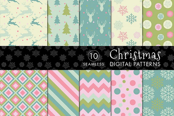 10 Seamless Christmas Patterns - Set 3