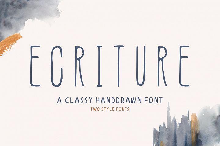 Ecriture    Handdrawn Font