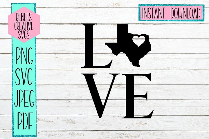 Texas love with heart | State SVG | SVG Cutting file