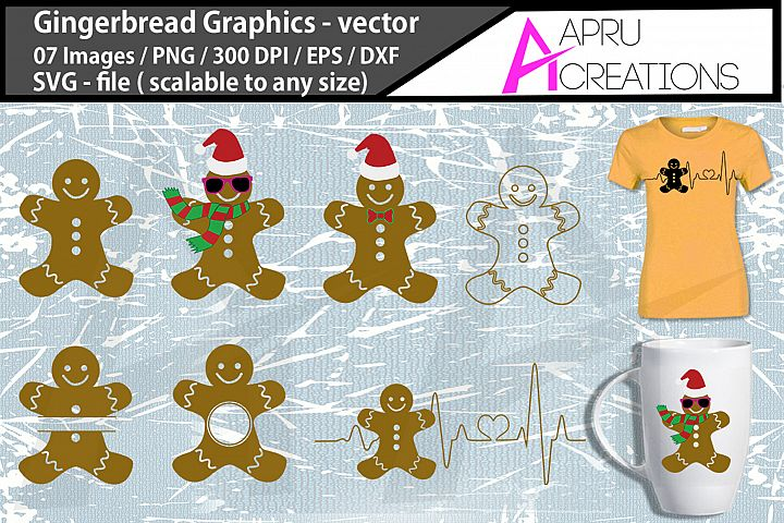 gingerbread svg graphics / gingerbread family vector