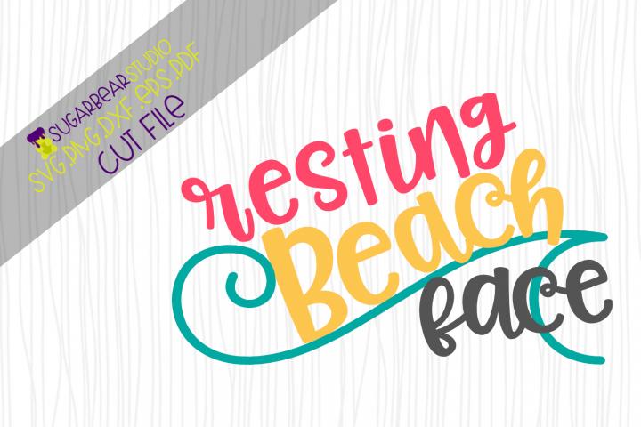 Resting Beach Face SVG