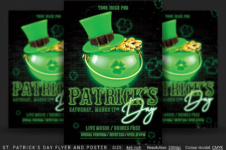 St. Patricks Day Flyer And Poster