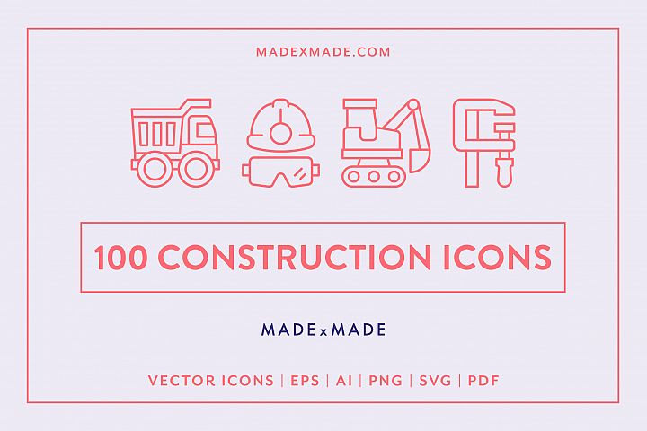Line Icons -Construction