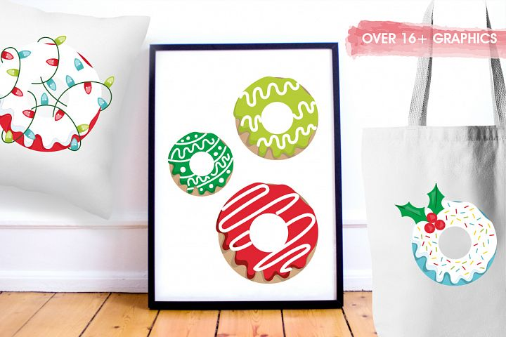 Christmas Cookies and Donuts graphics and illustrations example image 5