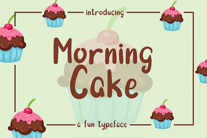 Morning Cake - Fun Font