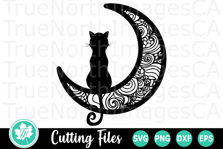 Cat on the Moon - A Halloween SVG Cut File