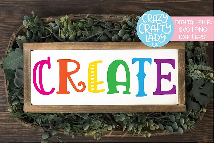 Create Inspirational Crafter SVG DXF EPS PNG Cut File