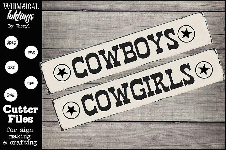 Cowboy/Cowgirl SVG