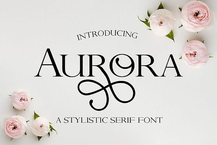 Aurora - A Stylistic serif font