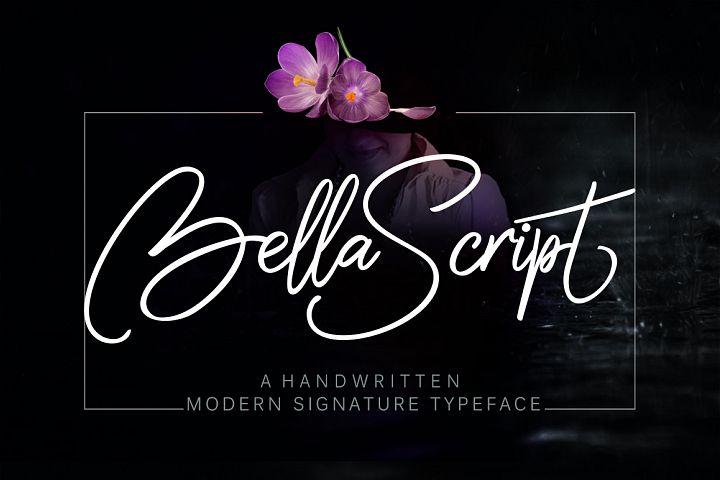 Bella script + swash
