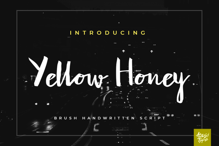 Yellow Honey Script