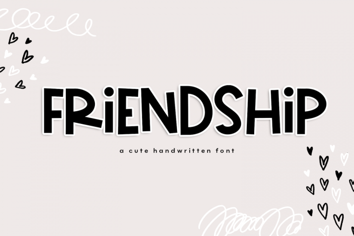 Friendship - A Bold & Cute Handwritten Font
