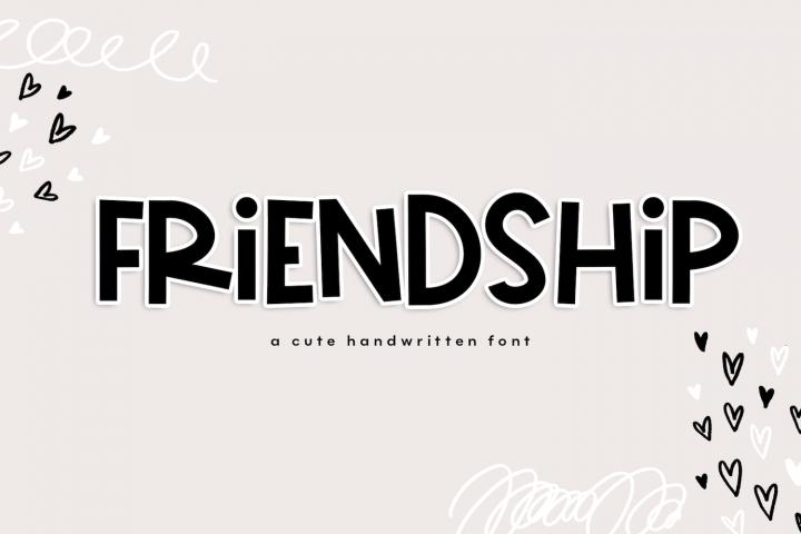 Friendship - A Bold & Cute Handwritten Font