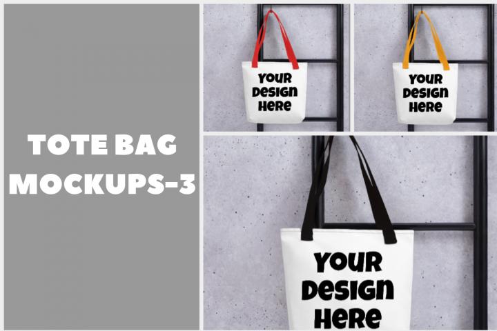 Tote Bag Mockups - 3  3000x3000PX