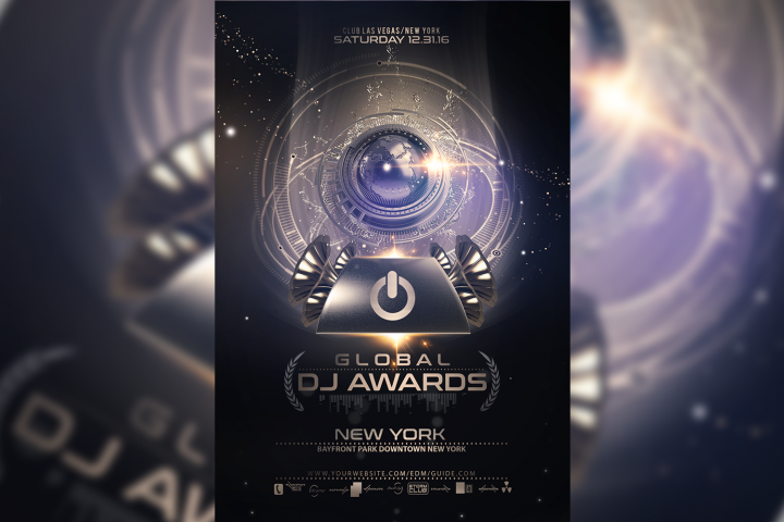 Global DJ Awards Flyer Template