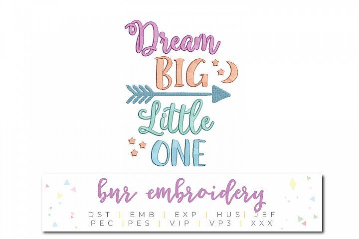 Dream Big Machine Embroidery Design