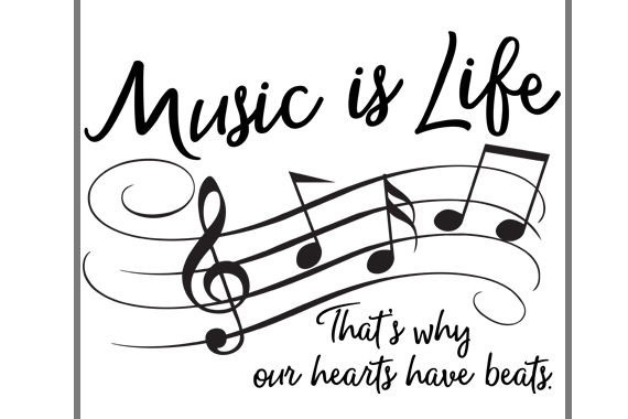 Music Is Life That S Why Hearts Have Beats 75269 Svgs Design Bundles
