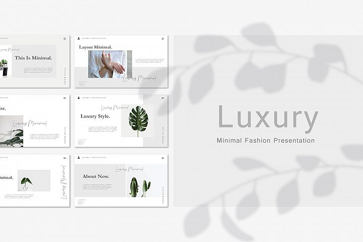 Luxury - Minimal Google Slide