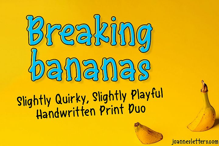 Breaking Bananas Print Duo