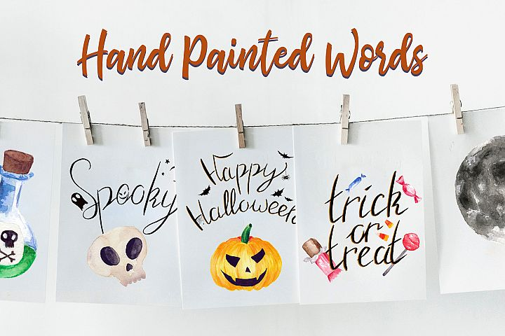 Halloween Watercolor Clip Art Pack! With SVG/Vector Versions example 2