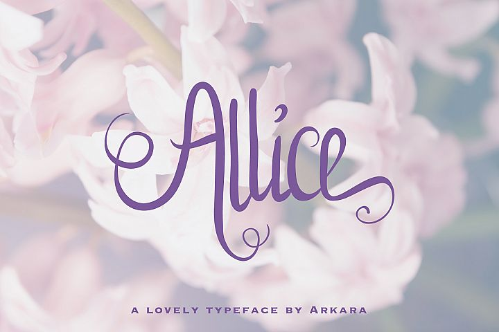 Allice Lovely Typeface & Extras