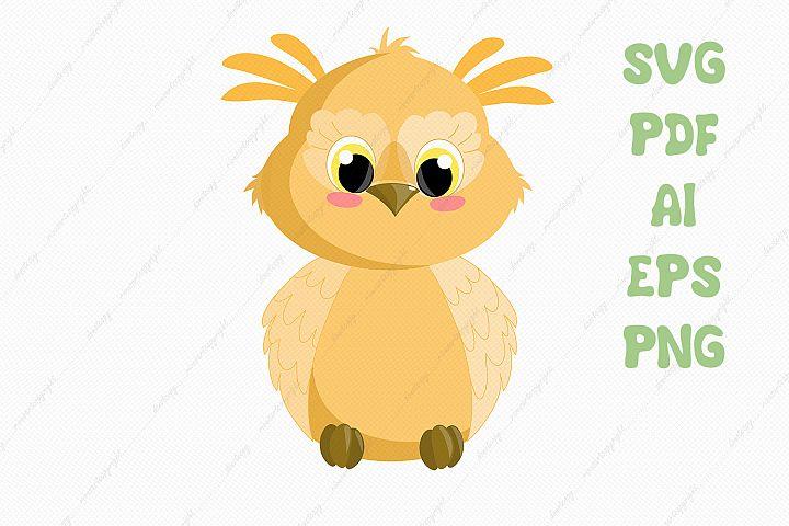 Cute owl svg clipart