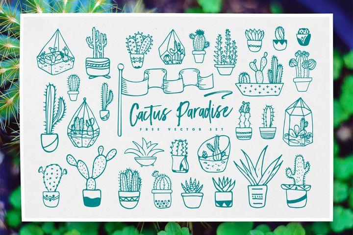 Cactus Paradise Vector Set