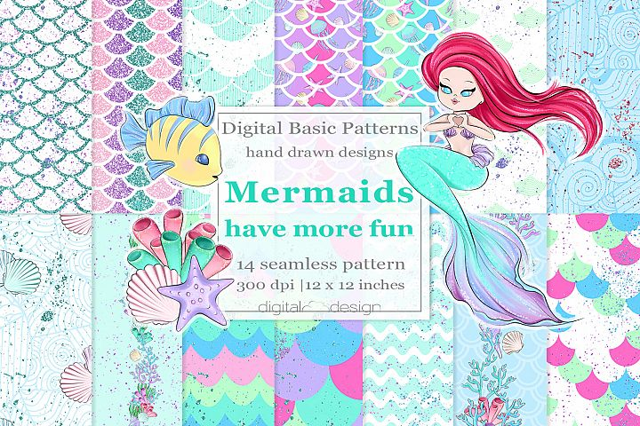 Mermaids Have More Fun - Basic Digital Pattern