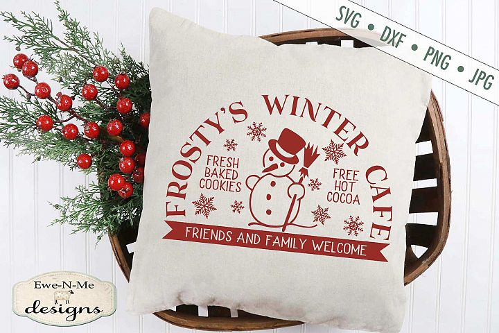 Frostys Winter Cafe - Christmas - Snowman - SVG DXF Files