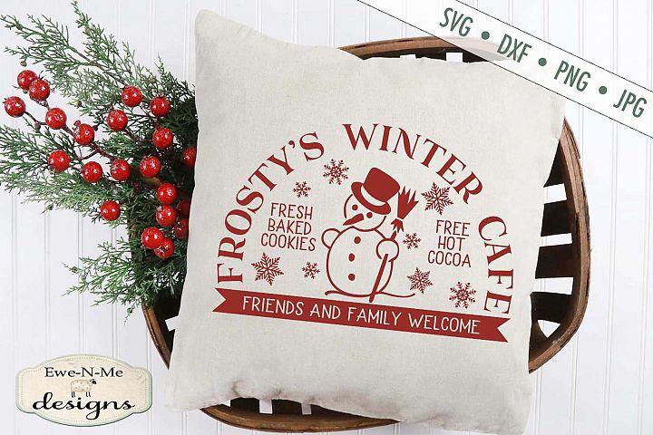 Frostys Winter Cafe - Christmas - Snowman - SVG DXF Files