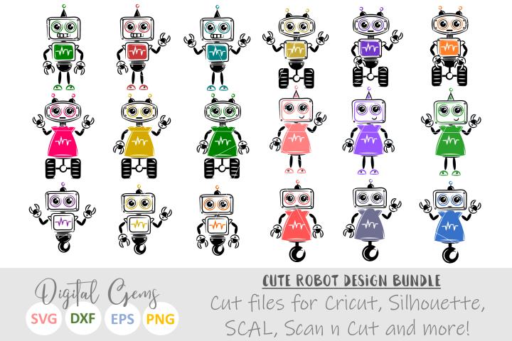Robots SVG / EPS / DXF Files