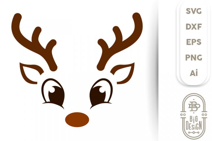 Reindeer SVG - Cute Reindeer SVG , Reindeer Face Svg , boy
